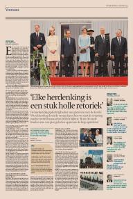 De Tijd interview 5 augustus 2014